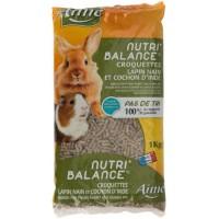 AIME Nutri'balance Croquettes - Pour lapin nain et cochon d'Inde - 1kg