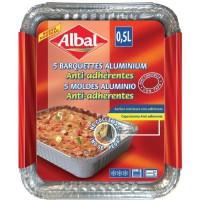 ALBAL Set 5 Barquettes Aluminiums - 0,5 L