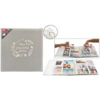 Album photo a 3 anneaux - 300 photos - 10 x 15 cm - Gris