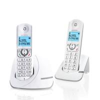 Alcatel F390 Duo Téléphone Sans Fil Sans Répondeur Blanc Gris