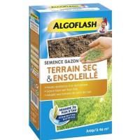 ALGOFLASH Semences gazon terrain sec et ensoleillé - 1 Kg