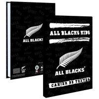 ALL BLACKS Cahier de Texte 193ALL102STD - Lundi au samedi - Couverture cartonnée souple - Papier PEFC Imprim'vert - 15 x 21 cm