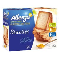 ALLERGO Biscottes diététiques sans gluten - 250 g