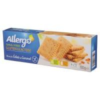 ALLERGO Biscuit éclats de caramel sans gluten ni lactose - 150g
