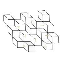 ALPHONSE Pele-mele filaires - 8 pinces - 46X42 cm - Noir