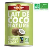 ALTER ECO Lait de Coco Nature Bio 400ml