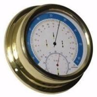 ALTITUDE Thermometre Hygrometre avec Cardinaux - Laiton - ø 150 mm