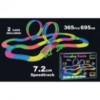 AMAZING TRACKS - Circuit voiture de 365 pieces - Brille dans le noir