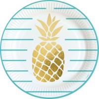 AMSCAN 8 Assiettes Ananas 23 cm