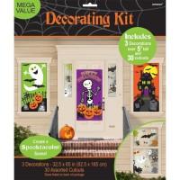 AMSCAN Kit 34 Décorations Family Friendly Halloween - 1,65m x 85 cm
