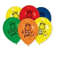 AMSCAN Lot de 6 Ballons en latex imprimé Faut Feter Ça - 25,4 cm/10''
