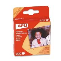 APLI Boite de 200 Coins Photos Transparents