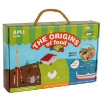 APLI Boite jeu de gommettes - Origine des aliments