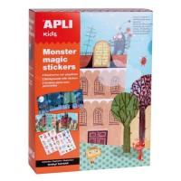 APLI Boite magic stickers - Monstres
