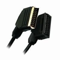 APM 400006 Cordon Péritel Mâle / Femelle 21 Conducteurs - Plugs or - 3 m