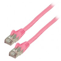 Valueline FTP CAT 6 network cable 1.00 m pink