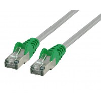 Valueline FTP CAT 6 cross network cable 50.0 m grey / green