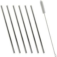 ARDTIME - CP6PAILIND - 6 pailles droites - Inox - mini goupillon - boite couleur