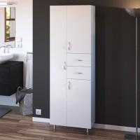 ARMANDO Armoire de Salle de bain 3 portes - L 60 cm - Blanc