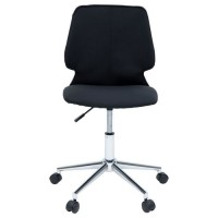 ARO Chaise de bureau - Tissu noir et blanc - Contemporain - L 47 x P 49 cm