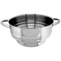 ARTAME Passoire cuit vapeur multi en inox - Ø 16-18-20-22-24 cm - Gris