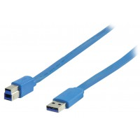Valueline flat USB 3.0 A male to USB 3.0 B male cable 2.00 m
