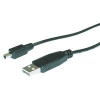 CABLE USB 2.0 A - MINI USB B 4P - 1.8m
