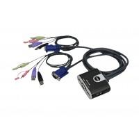Aten commutateur KVM USB 2 ports avec transfert de fichiers