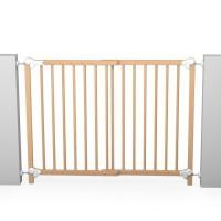 AT4 Barriere de sécurité enfant amovible et portillon - 73-110 cm - Bois naturel vernis