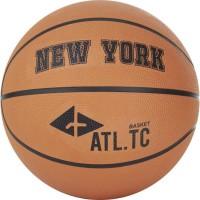 ATHLI-TECH Ballon de basket New York - Orange Clair - T6