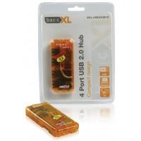HUB USB 2.0 4 PORTS PORTABLE BASIC ORANGE XL