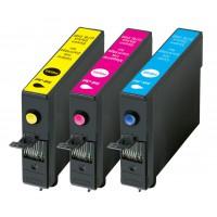 König ensemble cartouches de remplacement pour Epson® T0712,13,14 CMY