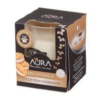 AURA Bougie Bicolore Biscuits vanille - 30 h