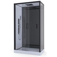 AURLANE Cabine de douche hydromassante Pozzy 2 - Structure en aluminium - 80 x 110 x 220 cm