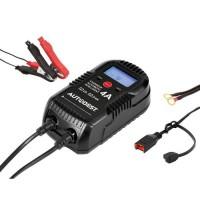 AUTOBEST Chargeur Automatique 6/12V 4A avec Accessoires