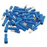 AUTOBEST Lot De 50 Fiches Cylindriques 4mm, 25 Mâles / 25 Femelles
