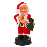 Automate Pere Noël avec bougie - H 20 cm - Pile