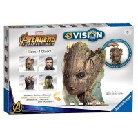 AVENGERS 4S VISION Avengers Infinity War Groot & Co - Réalisez 4 images en 1 Seule Sculpture 3D ! Ravensburger