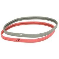 AVENTO Bandeaux élastiques sport 10 mm x 2 - Gris et Rose