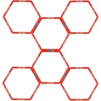 AVENTO Grille d'agilité hexagonale 6 pieces