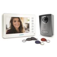 """AVIDSEN Interphone vidéo couleur 7"""" 2 fils YLVA 2+ avec lecteur RFID et badges"""
