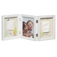 BABY ART Cadre empreinte My Baby Touch Edition Limitée Dreamy - Bébé mixte - Blanc - 3 volets
