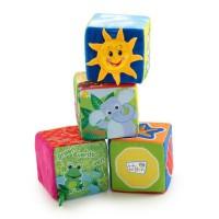 BABY EINSTEIN Cubes en tissu Explore & Discover Soft Blocks - Multicolore