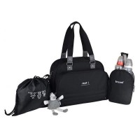 Baby on board- sac a langer - sac urban classic black - 2 compartiments a large ouverture zippée - 7 poches - sac repas - tapis