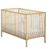BABY PRICE - lit 120x60 tout barreaux vernis naturel first