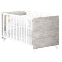 Babyprice - SCANDI GRIS - Lit Evolutif Little Big Bed 140x70