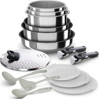 BACKEN 399915 - Batterie de cuisine 15 pieces inox - Tous feux dont induction