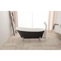Baignoire design - bi colore blanc - noir - 160x72x75