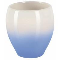BALI Gobelet salle de bain - 9,5 x 9 x 9 cm - Bleu