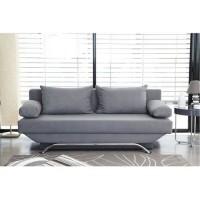 Banquette convertible TEIJO 3 places - Tissu gris - Contemporain - L 190 x P 84 x H 92 cm